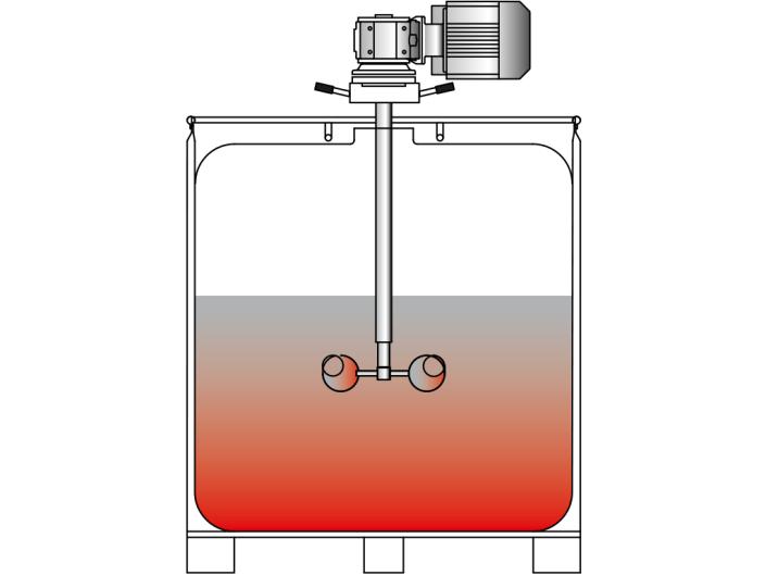Agitador para atornillar a los contenedores: VISCO JET VJ300