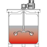 Agitador montable en contenedores tipo IBC con soportes: VJ350
