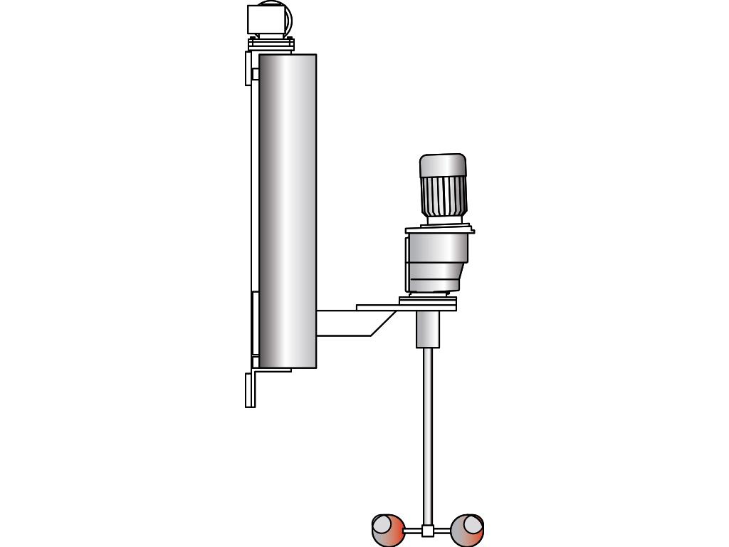 Agitador con columna para montar en pared o piso: VJ420WE / VJ420BE