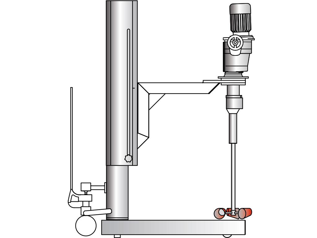Agitador con columna movil: VJ490 / VJ495